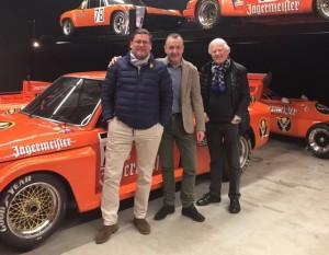 Oliver Schimpf, Norbert Knerr und Eckhard Schimpf beim Besuch von 72STAGPOWER