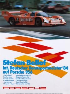 Stefan Bellof Int. Deutscher Rennsportmeister 1984 Auf Porsche 958 Im Jägermeister Design
